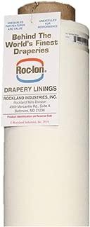 Roc-lon 54-Inch Renaissance 100-Percent Cotton Lining Fabric Rolled on Tube, 25-Yard, Ivory