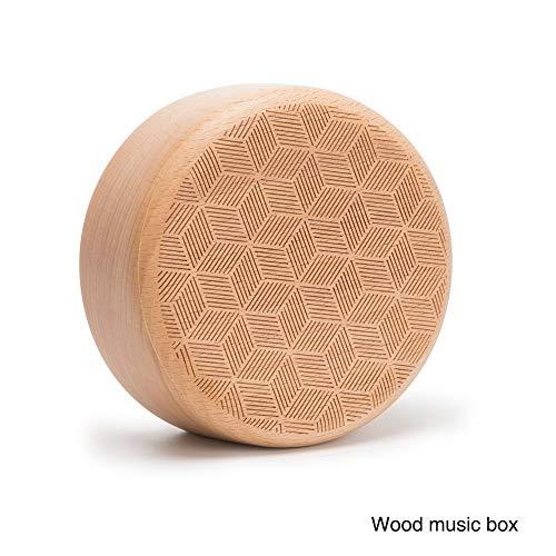 'Luna parte Reloj Rubik-'Material: madera de haya