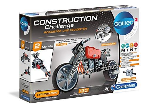 """Clementoni 59016.2 - Set da costruzione""""Galileo Construction Challenge - Roadster e Dragster"""""""