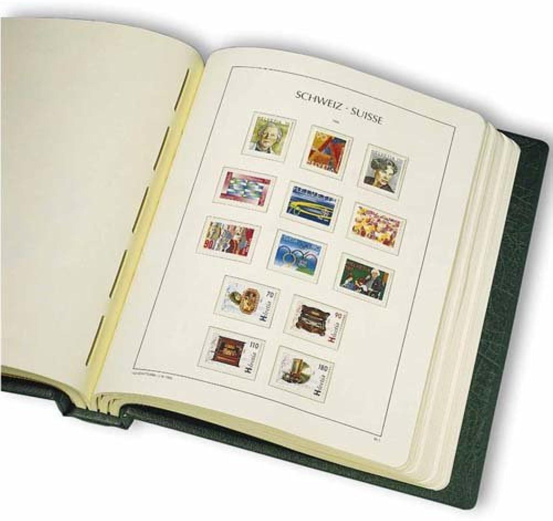 100% a estrenar con calidad original. Leuchtturm 341644 SF-álbum preimpreso Suiza 1907-1979, con cajetín, verde verde verde  online al mejor precio