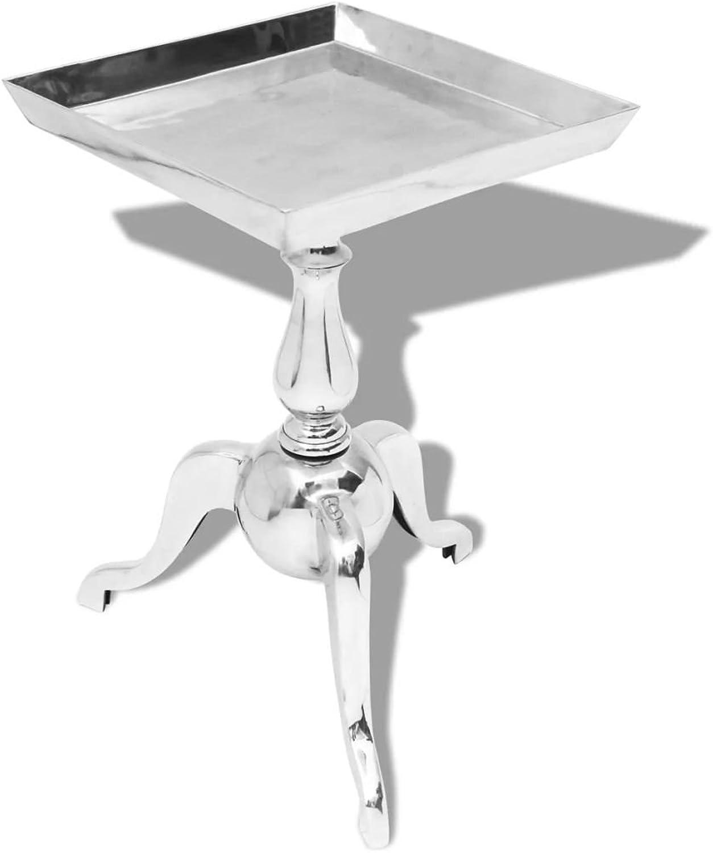 Binzhoueushopping Beistelltisch aus Aluminium, quadratisch, 35 x 35 x 56 cm (L x B x H) zum Aufstellen Einer Pflanze, Einem Telefon, etc.
