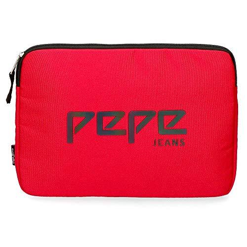 Pepe Jeans, Funda Tablet, 30 cm, 1.32 Litros, Rojo