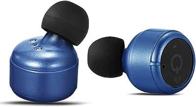 Mini Wireless Earbuds, TWS Headphones True Bluetooth Stereo Earphones Bass in-Ear Headset for Smartphones (X2T, Blue)