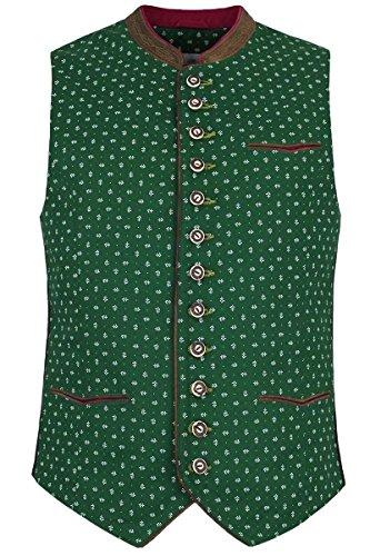 Almsach Herren Herren Trachten Weste grün, Grün, 54