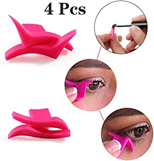 4pcs Winged Eyeliner Stamp, DreamJ Eye Makeup Stencil Beauty Cosmetic Tool Beauty Portable Cosmetic (Classic+Dramatic)