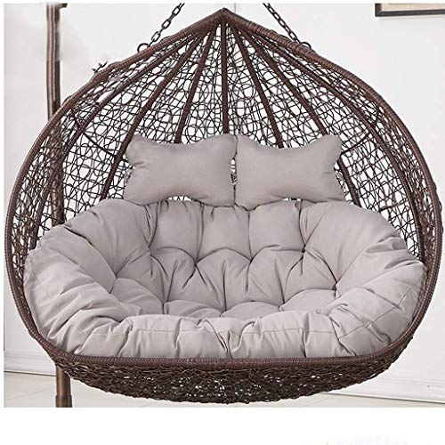 Yuany Hanging Garden Patio Outdoor Rattan Swing Chair Cushions,Swing Hanging Basket Seat Cushion,Size:110x150cm (Color : Gray)