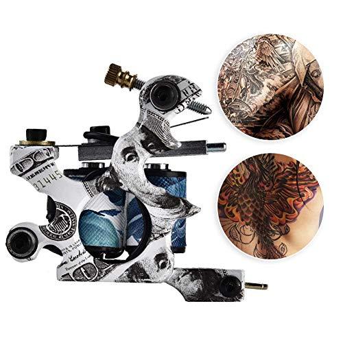 10 wraps professionele legering tattoo-machine koperen spoelen Shader Tattoo machine liner Gun voor het verven van voedsel Body Art Tool