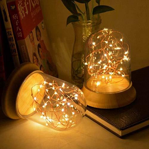 Rongxin Lámpara de noche pequeña USB LED para mesilla de noche, lámpara de mesa de lectura, marcador de dormitorio, mesita de noche, lámpara de mesa pequeña (color de la pantalla: amarillo)