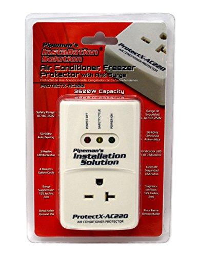 Pipeman's Installation Solution AC 220v Protector de Voltaje de sobretensión, 3600 vatios Aire Acondicionado (Nuevo Modelo)