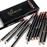 12pcs/set penna per labbro labbra, penna per rossetto Professiona impermeabile matita per labbra a lunga tenuta matita per labbra trucco cosmetico