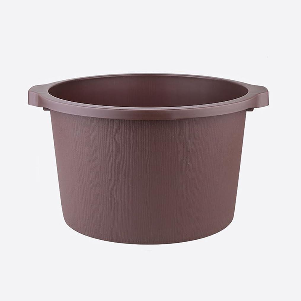 内向き深める花婿多目的プラスチックバケツプラスチック足サウナバケツ家庭洗濯バケツ肥厚足浴高揚フットバスバレルフォーム足フットバスフットバケツ (Color : Brown, Size : 40.5*22.5cm)