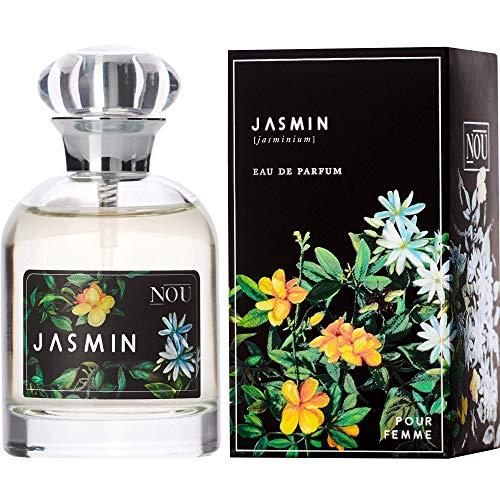 NOU Eau de Parfum Jasmin - Blumen-Parfüm für Damen mit Süßen, Fruchtigen Noten - Natürliches Frisches Jasmin-Parfüm für Frauen mit Ätherischen Ölen - Frisch & Blumig - Jasmin-Duft - 50 ml EDP