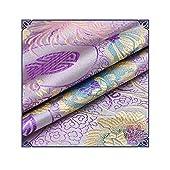 IQQIホワイトシリーズ菊ブロケードの布チャイナ中華風古代の衣装唐のスーツの生地DIYキルト生地サテン本物のシルク,紫色
