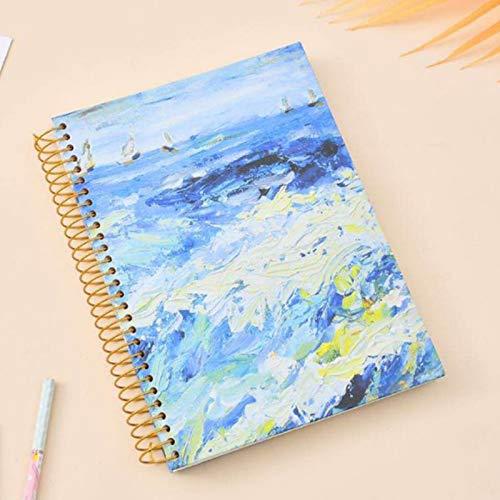 EFSDF Cuaderno B5 Bloc de Notas Espiral, 300 Páginas/150 Hojas Libreta Diarios para Escolar Escribir Professor, Libreta Viajar, Pack de 4Blue