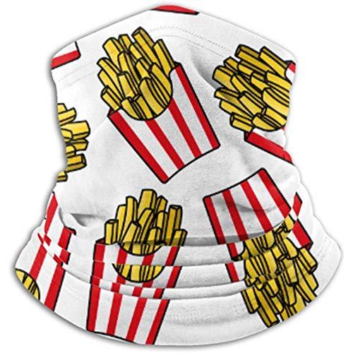 Xian Shiy Knuspriger Pommes Frites Roter Schal, Vollmaske oder Hut, Halsmanschette, Halskappenmaske, Halbmaske, Gesichtsmaske, Bal