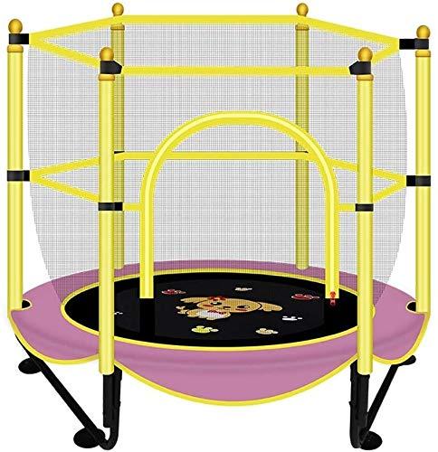 LAMTON Rebounder Folding Mini-Trampolin mit Sicherheitskabine High Spec Silent-Seil weicher Gummi-Matte mit Basketball steht Ideal for Innen- und Außen Garten Trampolin for Kinder Geburtstags-Geschenk