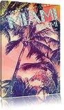 Miami Leinwandbild Bild auf Leinwand, XXL riesige Bilder
