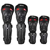 Webetop Elbow Pads Knee Pads 4Pcs - 2 in 1 Protective Elbow Guard/Knee and Shin Guards, Motocross Gear Set with Adjustable Straps Protector for Motorcycle ATV MTB