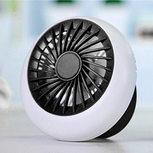 LIANGUK Intelligente di ricarica USB Ventilatore - Portatile Mini Piccolo Squisito Ventilatore di tondo forme per il Student Office Desktop,Nero