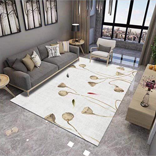 HXJHWB modern trendy design inspiratie multi - lotusbloemenpatroon woonkamertapijt-nachtkastje in Chinese stijl wasbaar