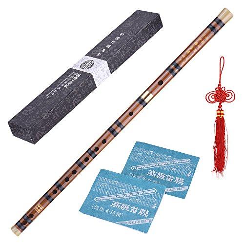 ammoon Steckbare Bitter Bambusflöte Dizi Traditionelle Handgemachte Chinesische Musikholzblasinstrument Tonart D-Studie Stufe Professionelle Leistung