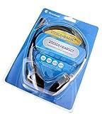 Dynamode Over-Head Stereo Headset with Microphone Binaural Verkabelt Schwarz, Silber Mobiles Headset - Mobile Headsets (Verkabelt, Binaural, 20-20000 Hz, 32 Ohm, Schwarz, Silber)