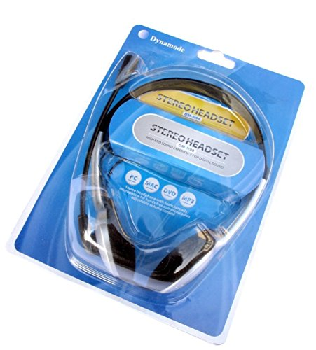 Dynamode Over-Head Stereo Headset with Microphone Binaural