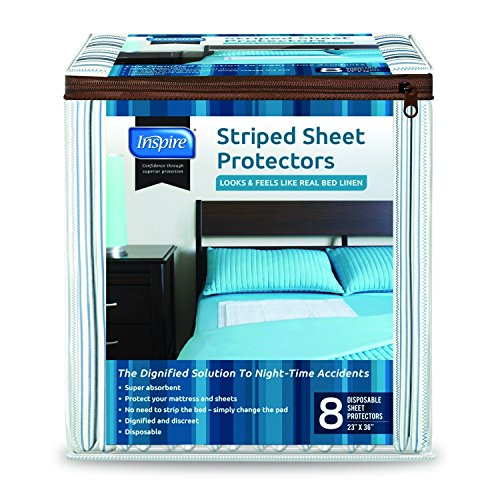 Inspire Disposable Bed Protector Underpad Sheets, 16 Count