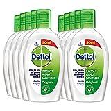 Dettol Hand Sanitizer Liquid Gel Flip-top (Pack of 10 - 50ml each | 70% Alcohol, Kills 99.9% Germs