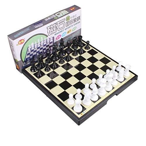 Reloj Ajedrez Accesorios para el hogar Ajedrez Juego de tablero de ajedrez Juego Tablero de ajedrez magnético con tablero de ajedrez Plegable y portátil para viaje Juego de ajedrez (Tamaño: 37 cm)