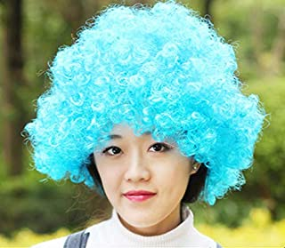 Sky blue Explosion wig Clown funny props exaggerated performance wig hair sets Kids Adult Party Funny Show