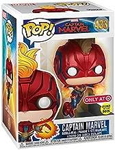 POP! Funko Marvel Captain Marvel - Glow in The Dark Flying Captain Marvel (Target Exclusive) #433