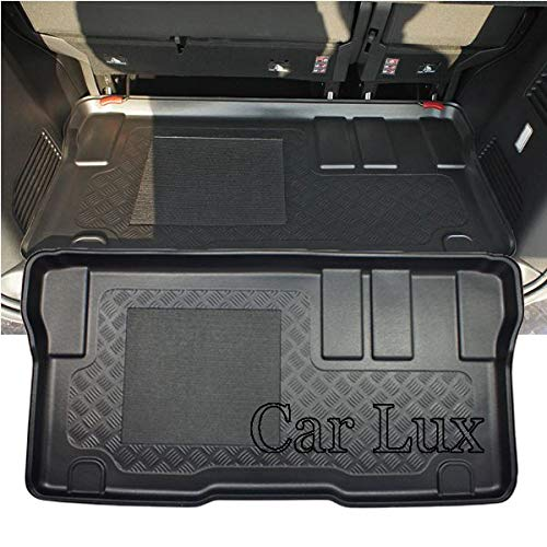 Car Lux AR04519 - Alfombra cubeta Protector Cubre Maletero a Medida con Antideslizante para ProAce Verso L2