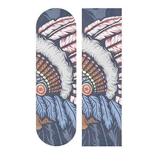 Skateboard Griptape Blatt 83 x 22,9 cm – Indian Child Enthic Sandpapier für Rollerboard Longboard Griptape blasenfreies Skate Griptape