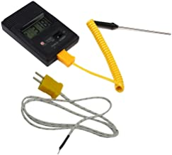 Tiamu TM-902C - Medidor de temperatura (-50 grados Celsius a 750 grados Celsius) TM902C digital tipo K sensor + aguja de detector de termopar