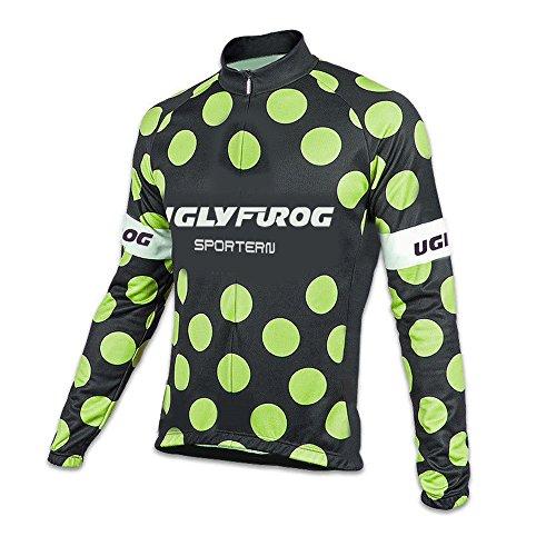 UGLY FROG HDWLJ05 Radsport Trikots Lange Ärmel Sport & Freizeit Winter Pro - Thermo Herren-Fahrrad-Jersey - Lang-Ärmel-Slim-Fit-Fahrrad/MTB-Shirt