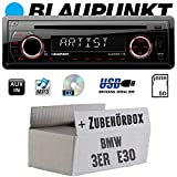 Autoradio Radio Blaupunkt Alicante 170 - CD/MP3/USB - Einbauzubehör - Einbauset für BMW 3er E30 - JUST SOUND best choice for caraudio