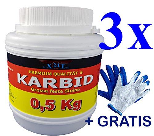bri'X24T'you Karbid***NEU***0,500KGbis2,00KG+(HSx1) Marken Premium Karbid der Firma BRIN'X UNERREICHT in QUALITÄT u. WIRKUNGsDauer Kör. 28-45(1,500KG)