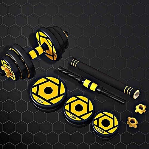 De YAYY halterset met instelbaar gewicht en pleel kan worden gebruikt als afneembaar lange halterfitnessapparaat voor de lichaamspiertraining (upgrade).