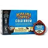 Java House Cold Brew Coffee Concentrate Single Serve Liquid Pods - 1.35 Fluid Ounces Each (Kauai Vanilla Macadamia Nut, 6 Count)
