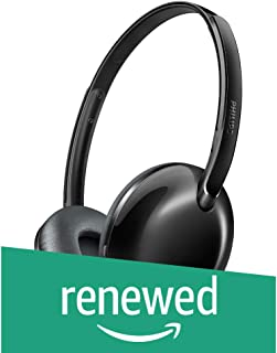 (Renewed) Philips SHB4405BK/00 Bluetooth Wireless Headphones (Black)