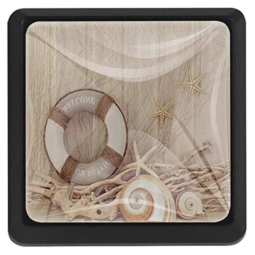 Velas de composición violeta, orquídeas de aceite y bambú sobre el agua, impresión artística, 3 piezas de cristal para gabinetes, cajones, armarios de cocina, armarios, tiradores de 35 mm