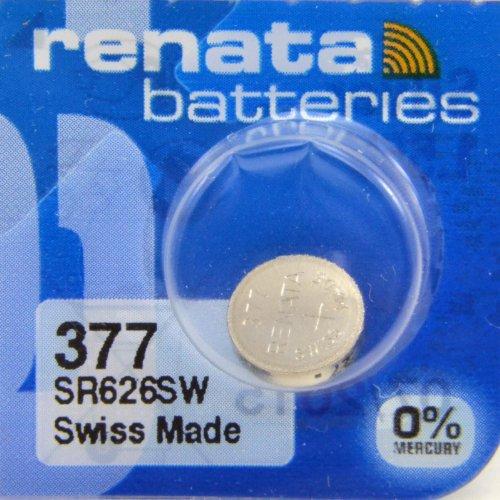 Renata 377 SR626SW - Pila de botón (óxido de plata, para reloj)