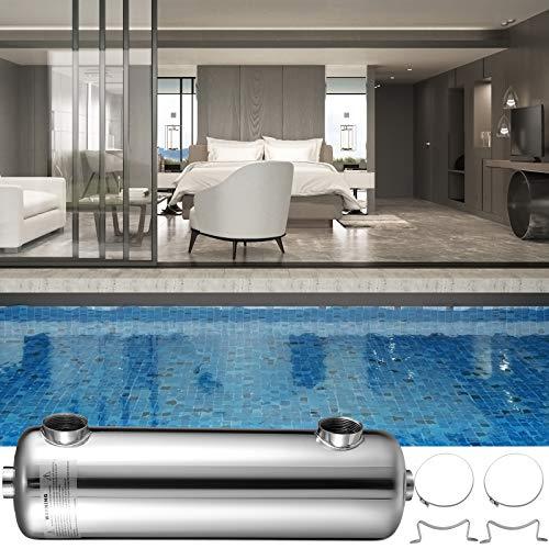VEVOR Schwimmbad Wärmetauscher 260 KBtu/h Edelstahl Wärmetauscher Pool für Schwimmbäder, Spas, Whirlpools usw.