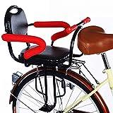 Asiento De Bicicleta para Niños Bicicleta Trasera Asiento Trasero para Bebés Y Niños con Cojín Respaldo Trasero Pedales/Apoyabrazos, Valla Desmontable Asiento Trasero De Bicicleta
