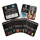 KTING Juego de 72 lápices de colores de calidad para artistas profesionales y estudiantes de arte, lápices de acuarela con colores ricos, vibrantes, altamente pigmentados