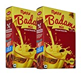Manna Instant Badam Drink Mix with Real bits of Badam, 800g (400g x 2 Packs) . More Bits per Sip (10% Badam). Make milk tastier