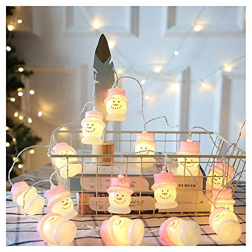 KELUNIS 3M 30 Led Snowman Light String, Waterproof White Lights with Remote Timer, Decorations for Christmas Indoor Outdoor Garden Home