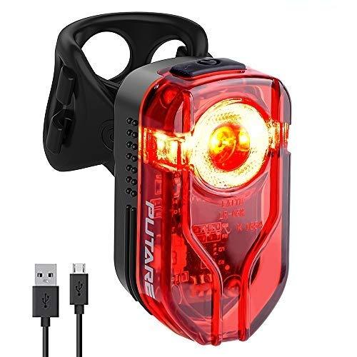 PUTARE 【2020 Neuestes Modell】 Fahrrad Rücklicht LED Fahrradlicht,USB Aufladbar Fahrradbeleuchtung mit StVZO Zugelassen,IPX5 Wasserdicht,220 Grad Weitwinkelsicht für Radfahren,Camping usw