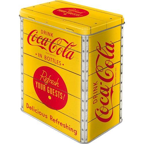 Nostalgic-Art 81884 Coca-Cola Yellow Logo, Special Edition Vorratsdose L, Metall, bunt, 10 x 14 x 20 cm
